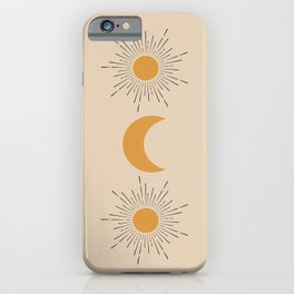 Moon and Sun iPhone Case