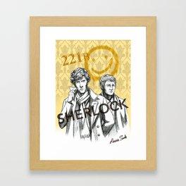Sherlock BBC Framed Art Print