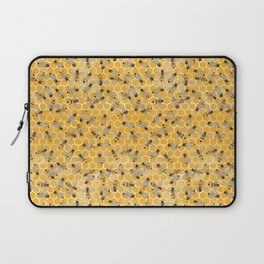 Bees on Honeycomb Laptop Sleeve