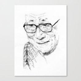 Typewritten Dalai Lama Canvas Print