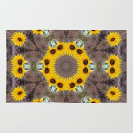 Sunflower mandala Rug