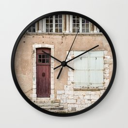 Little Brown Door Wall Clock