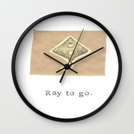 Ray To Go Natural History Collage Wall Clock