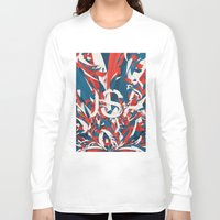 usa Long Sleeve T-shirts featuring USA by Danny Ivan