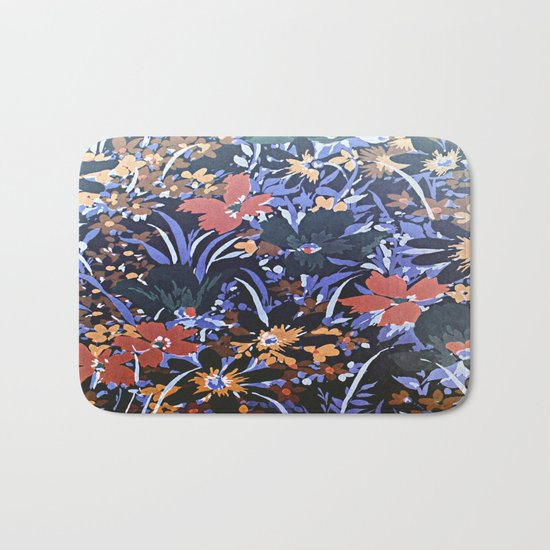 Midnight Floral Garden Bath Mat