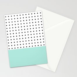 Stars and Mint Stationery Cards