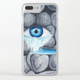 L'amour au coeur de pierre Clear iPhone Case