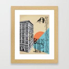 Love Builds Up Framed Art Print