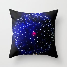 Cellular Firework Throw Pillow