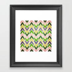 Multi Chevron Framed Art Print