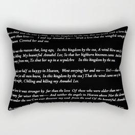 Annabel Lee Edgar Allan Poe black Classic Poem Rectangular Pillow