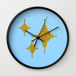 Sparkles Food Emoji Wall Clock