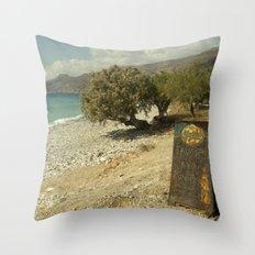 Mythos Beach Throw Pillow