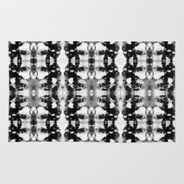 Tie-Dye Blacks & Whites Rug