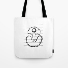 Suggestive Doodle on White Notepaper Tote Bag