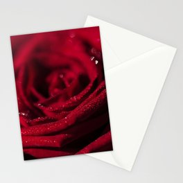 Fire - Red - Rose - Roses Flowers Stationery Cards