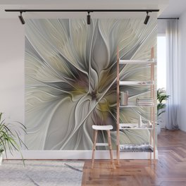Floral Abstract, Fractal Art Wall Mural