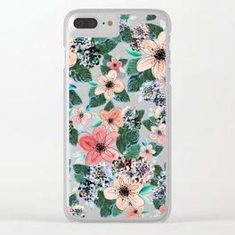 Peach Dreams Clear iPhone Case
