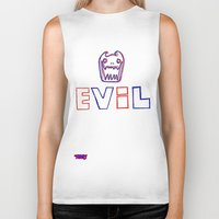 evil Biker Tanks featuring Evil. by The Fort by The Smoking Roses!