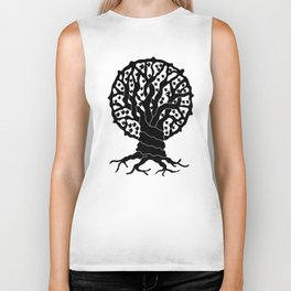 tree with circular branches Biker Tank