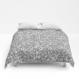 Silver Gray Glitter Comforters
