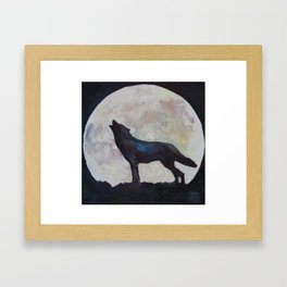 Full Moon Wolf #051 Framed Art Print