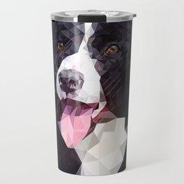 Border Collie (Low Poly) Travel Mug