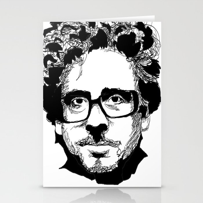 Tim Burton in colors by burro Stationery Cards