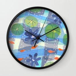 Lily Pond Life Wall Clock