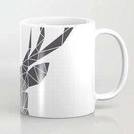 Grey Deer Head Illustration Coffee Mug