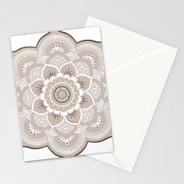 Beige & White Mandala Stationery Cards