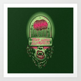 Monkey Brains Art Print