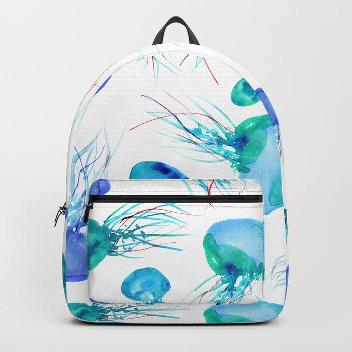 Jellyfish || watercolor Backpack