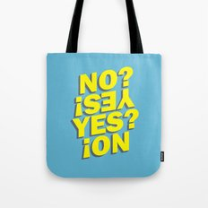 No? Yes! Yes? No! Tote Bag