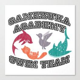 Samezuka Academy Swim Team Canvas Print