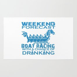 WEEKEND FORECAST BOAT RACING Rug