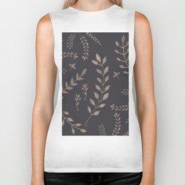 Light Sepia Leaves Pattern #1 #drawing #decor #art #society6 Biker Tank