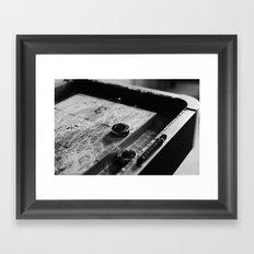 Shuffling the Time Away Framed Art Print