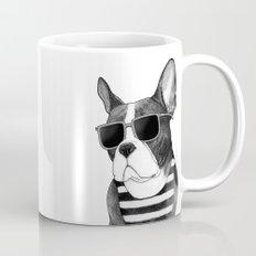 Frenchie Summer Style b&w Mug