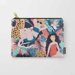 Tropical Girls with Cheetah Carry-All Pouch