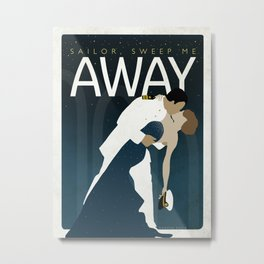 Sailor, Sweep Me Away - (Officer at the Navy Ball) Metal Print