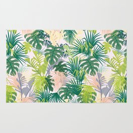 Pink jungle pattern Rug
