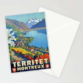 Vintage poster - Territet Montreaux Stationery Cards