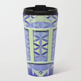 Flower of Life GEMINI Astrology Design Metal Travel Mug