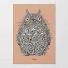Peach Totoro Canvas Print