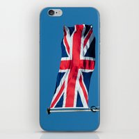 british flag iPhone & iPod Skins featuring Flying the British flag by PICSL8