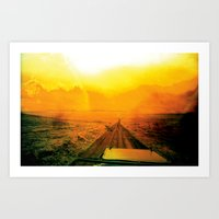 safari Art Prints featuring Safari by very giorgious
