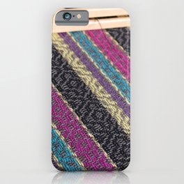 Striped point twill grey iPhone Case