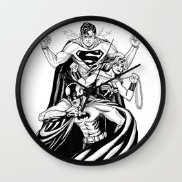 Justice League Trinity: The Caped Crusader, Diana Prince, Superman Wall Clock