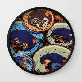 Love Buttons Wall Clock